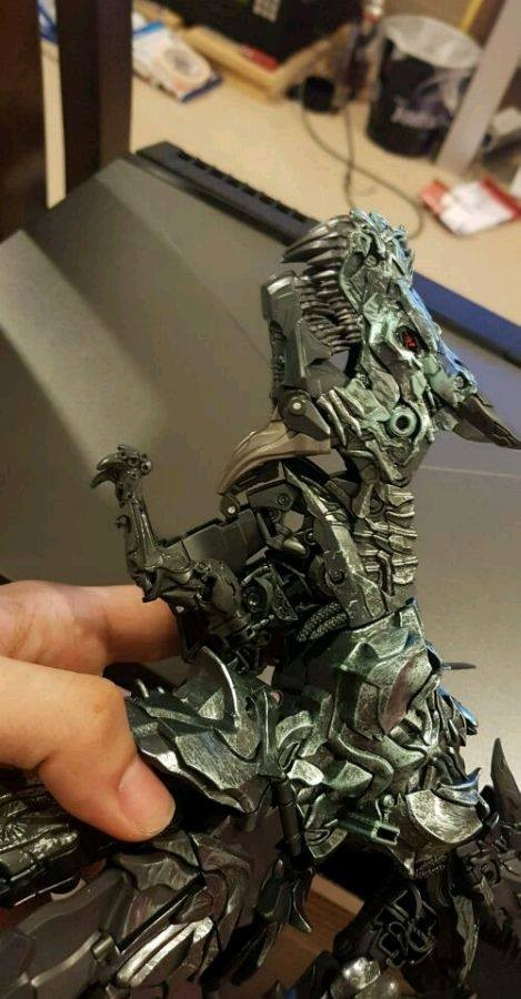 Transformers News: New In Hand Images and Transformation Video of Leader Class Grimlock from Transformers Studio Series
