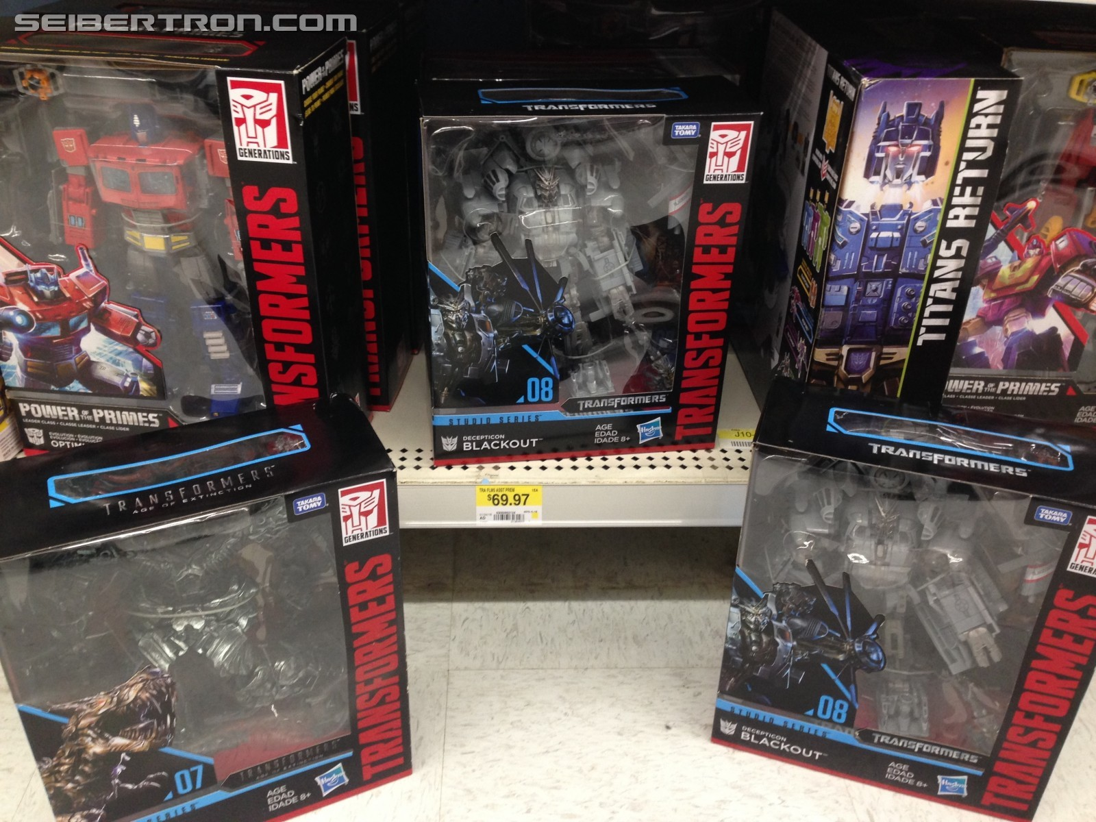 Transformers News: Transformers Studio Series Leader Class Grimlock and Blackout and all Wave 1 Found at Walmart Canada