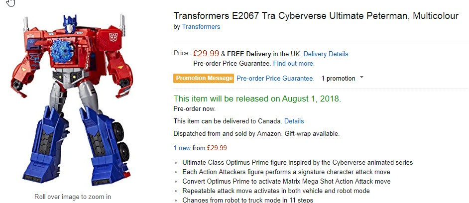 Transformers News: New Transformers Cyberverse Sightings in USA, Canada and UK
