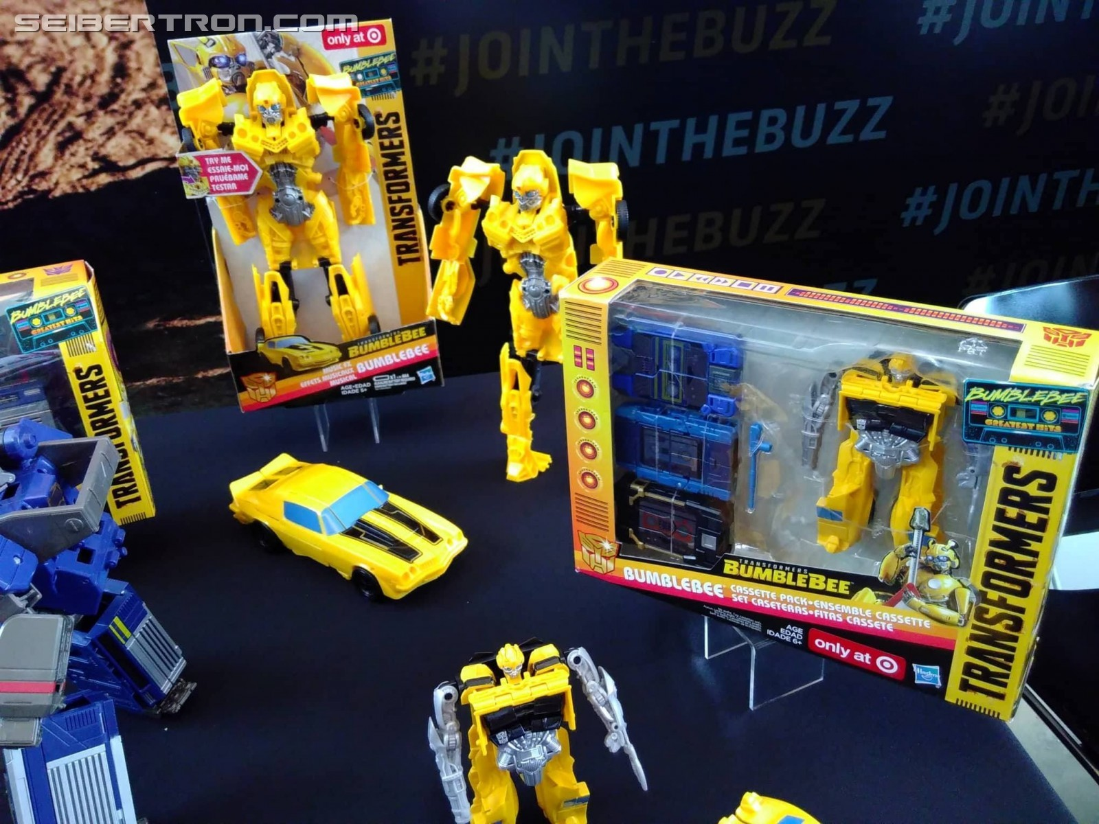 Bumblebe Movie Toys on Display at SDCC 2018 including ...