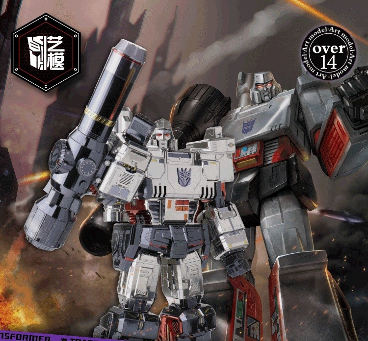 Transformers News: New 2018 Fully licensed  Transformers 3D Metal Model Kits Featuring G1 Megatrona and TLK Bumblebee