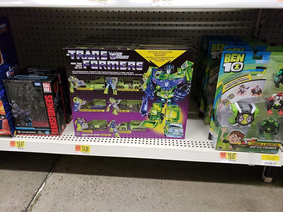 Transformers News 2018 G1 Hot Rod And Devastator Reissues Found In The US