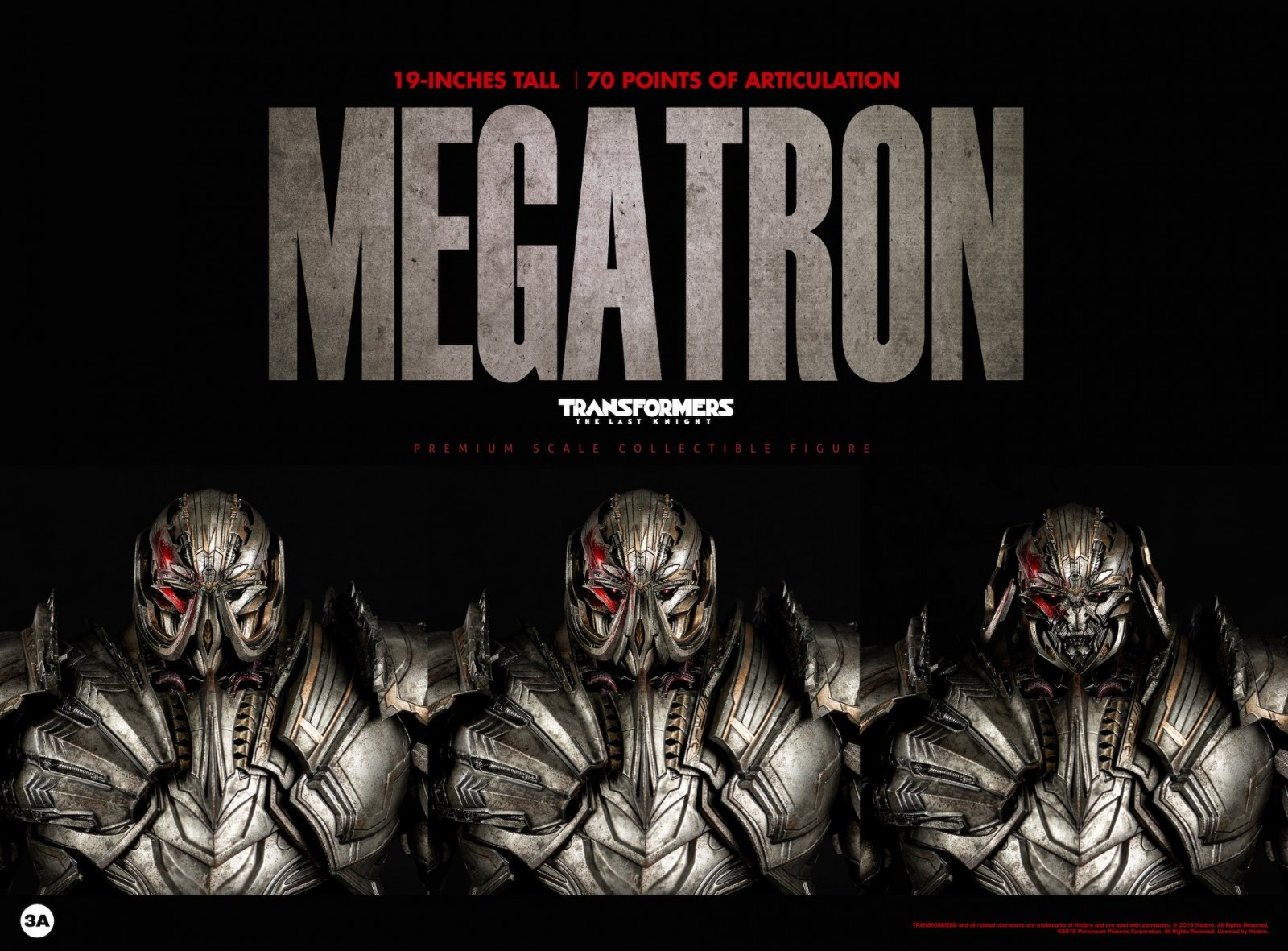 Transformers News: Images of 3A Transformers: The Last Knight Megatron Action Figure
