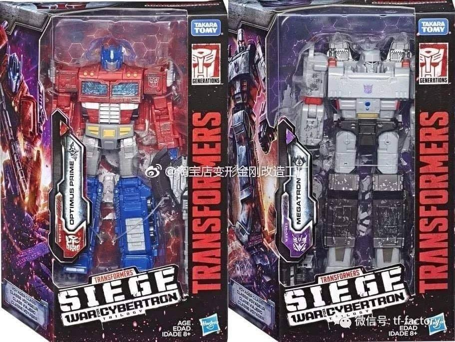 Transformers News: In Package Images of Transformers War for Cybertron: Siege Megatron and Optimus Prime