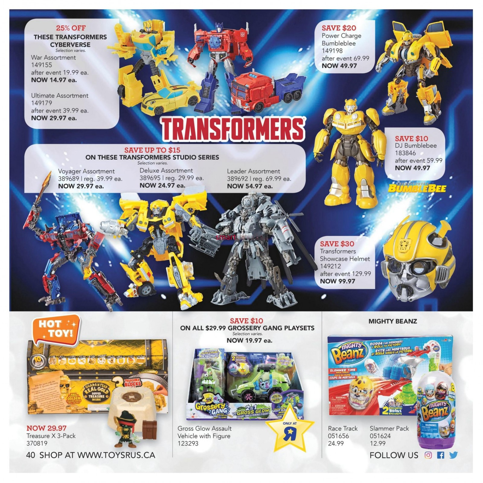 Transformers News: 2018 Toysrus Canada Holiday Catalogue Heavily Features Bumblebee with Discounts and Events
