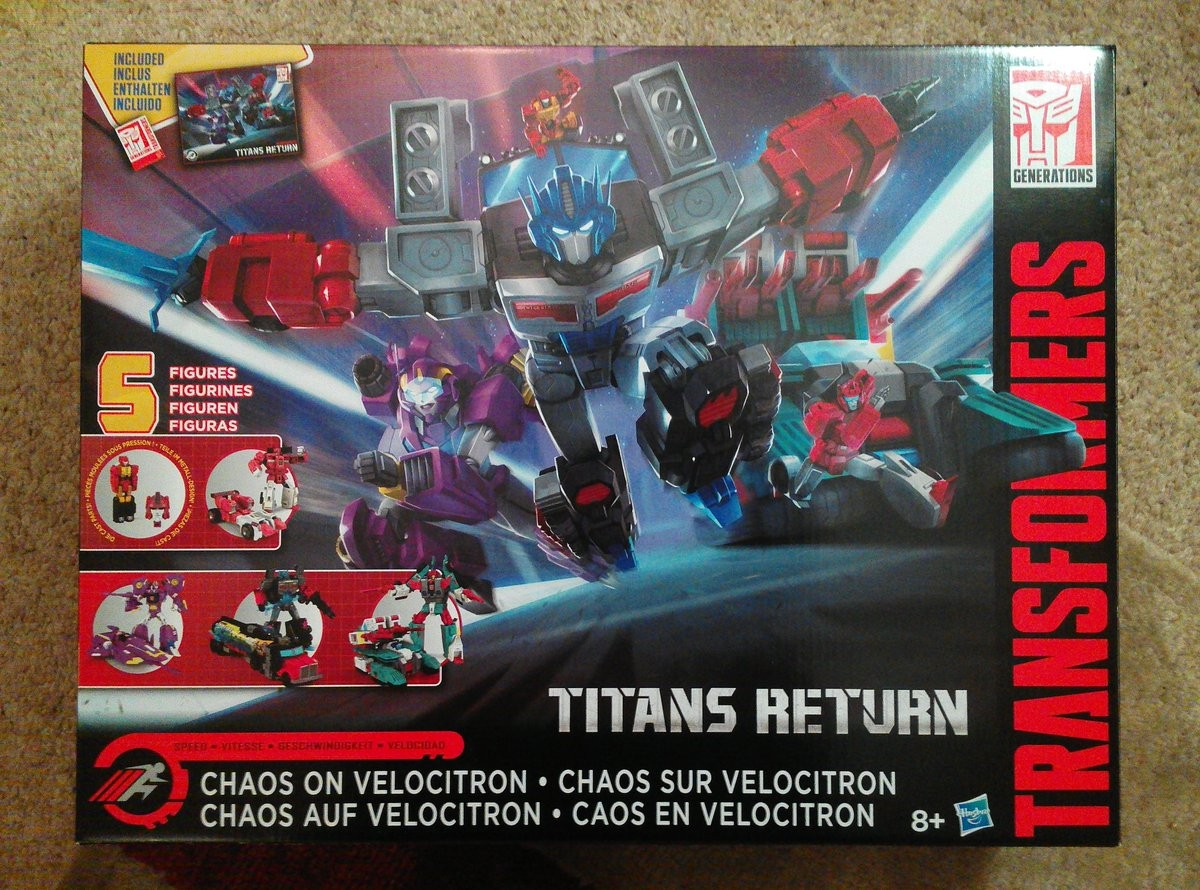Transformers News: Transformers Titans Return Chaos on Velocitron Set Available at Deep Discount in UK