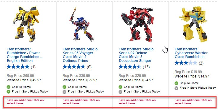 Transformers News: Canada Transformers Sightings With Vol 1 and 2 of Dino Casettes Pack, MPM 7, and More Savings