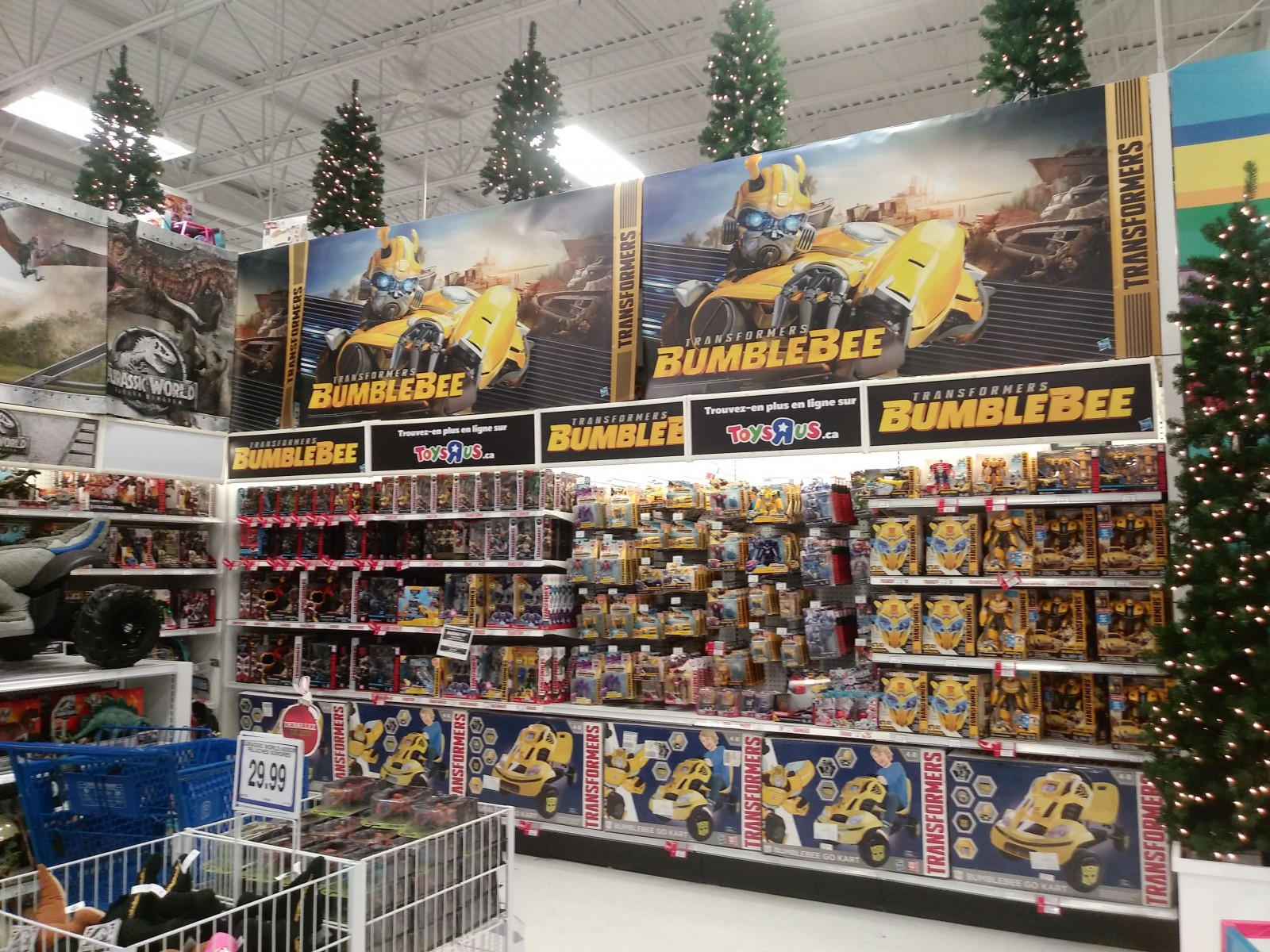 Transformers News: Huge Display of Bumblebee Toyline at Toysrus Stores in Canada