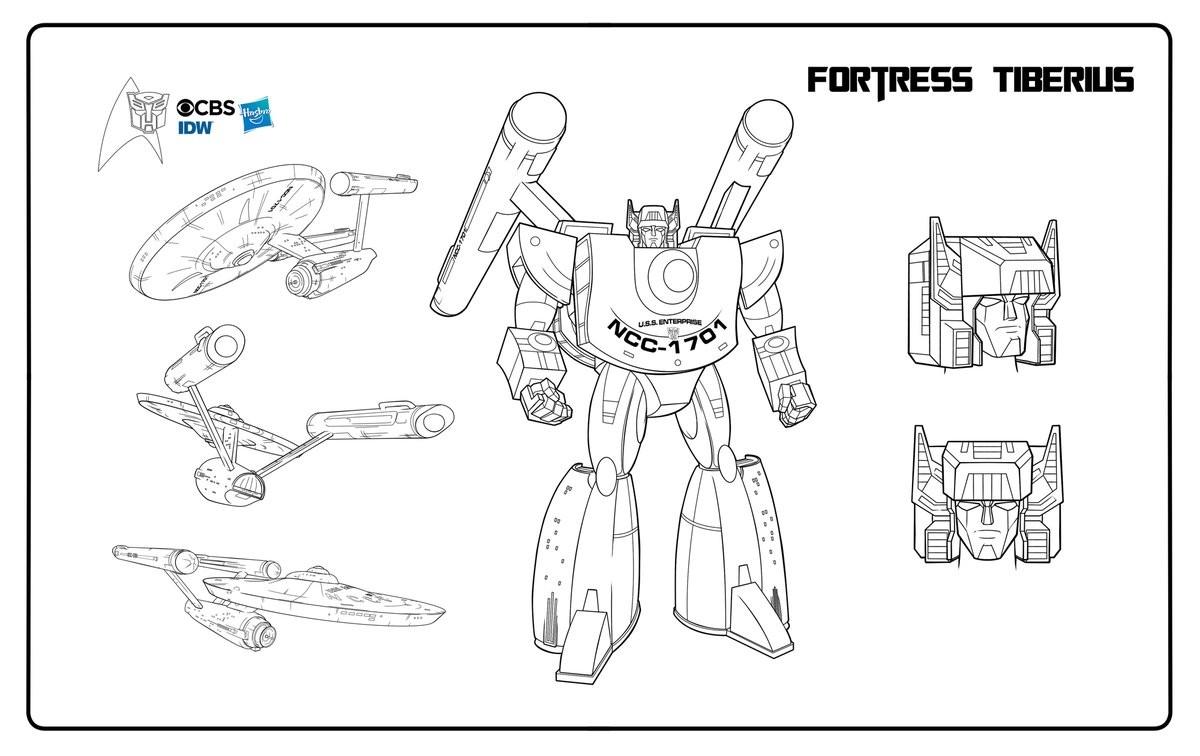 Transformers News: Transforming Starship USS Enterprise Design Revealed