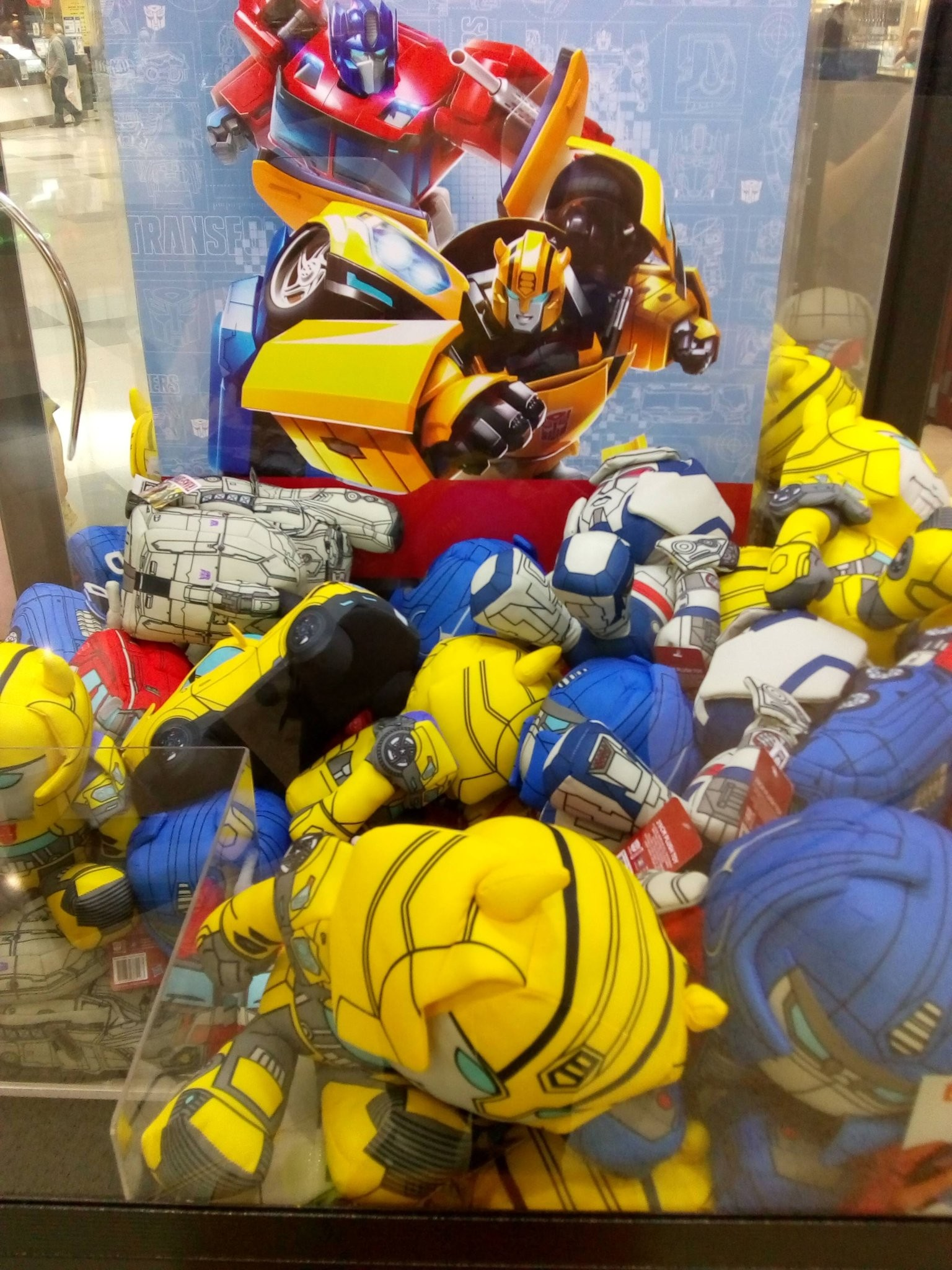 Transformers News: New Transformers Themed Crane Machine with Exclusive Evergreen Design Plushies Found