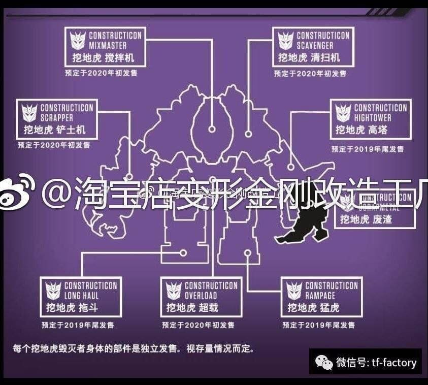 Transformers News: All Components of Studio Series Devastator Combiner Revealed with Release Schedule