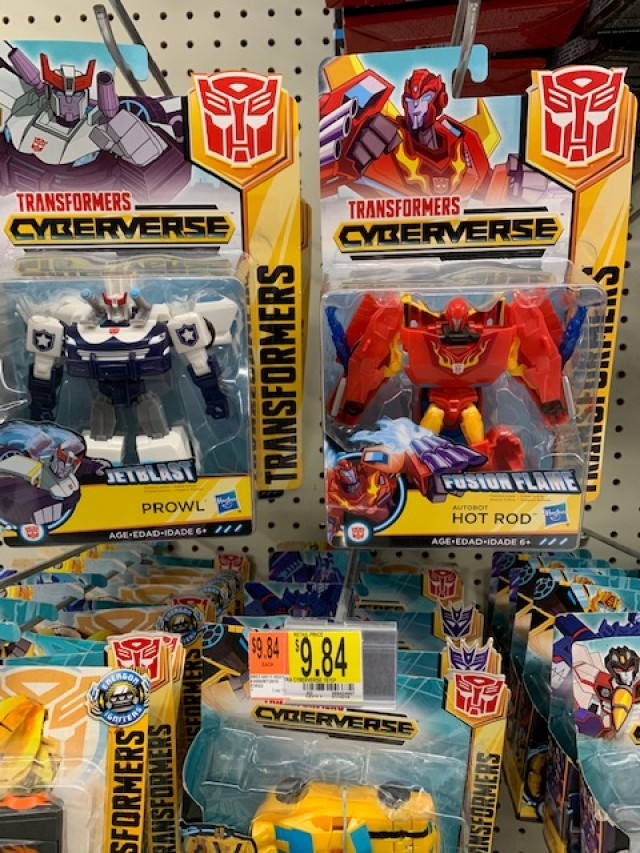 Transformers News: Transformers Cyberverse Warrior Class Prowl and Hot Rod found at US retail