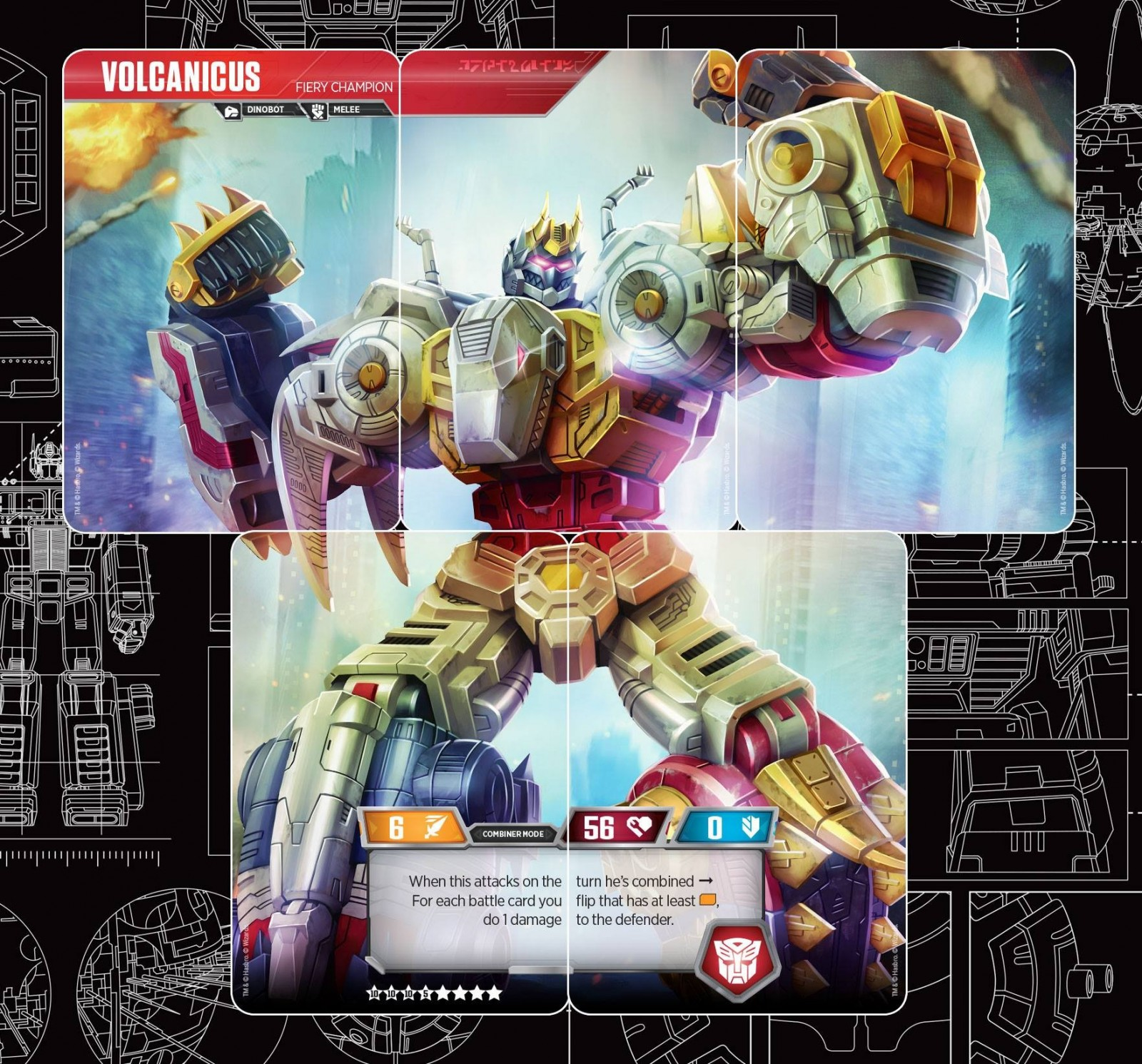 Transformers News: Transformers Trading Card Game Volcanicus Revealed