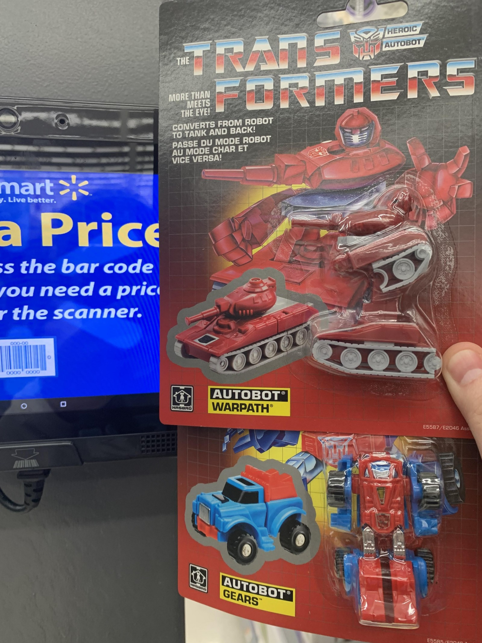 Transformers News: G1 Transformers Warpath and Gears found at US Walmart