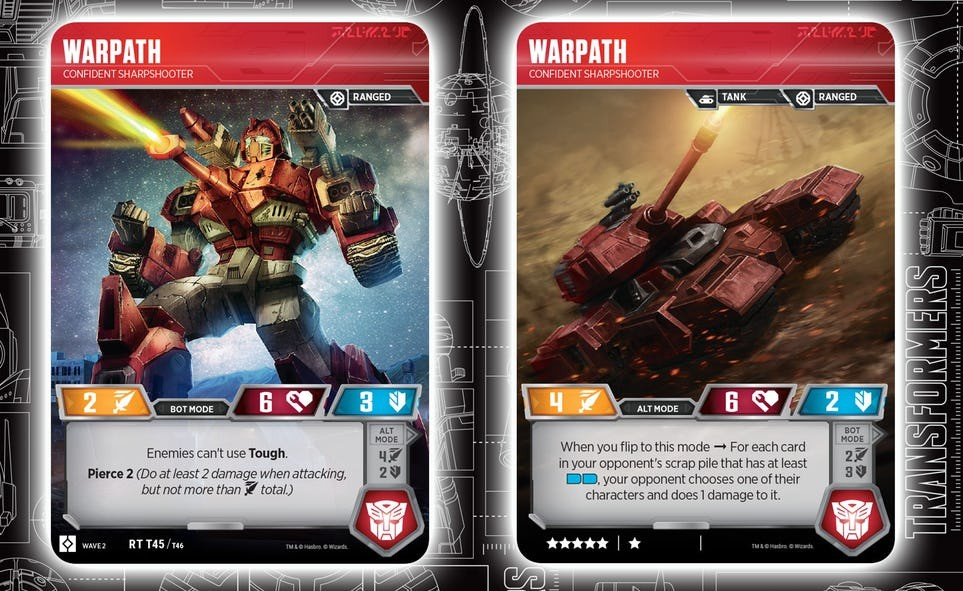 Transformers News: Warpath Revealed For Transformers TCG