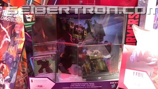 Transformers News: Images of Predaking and Devastator Transformers Trading Card Game Packs from New York Toy Fair 2019