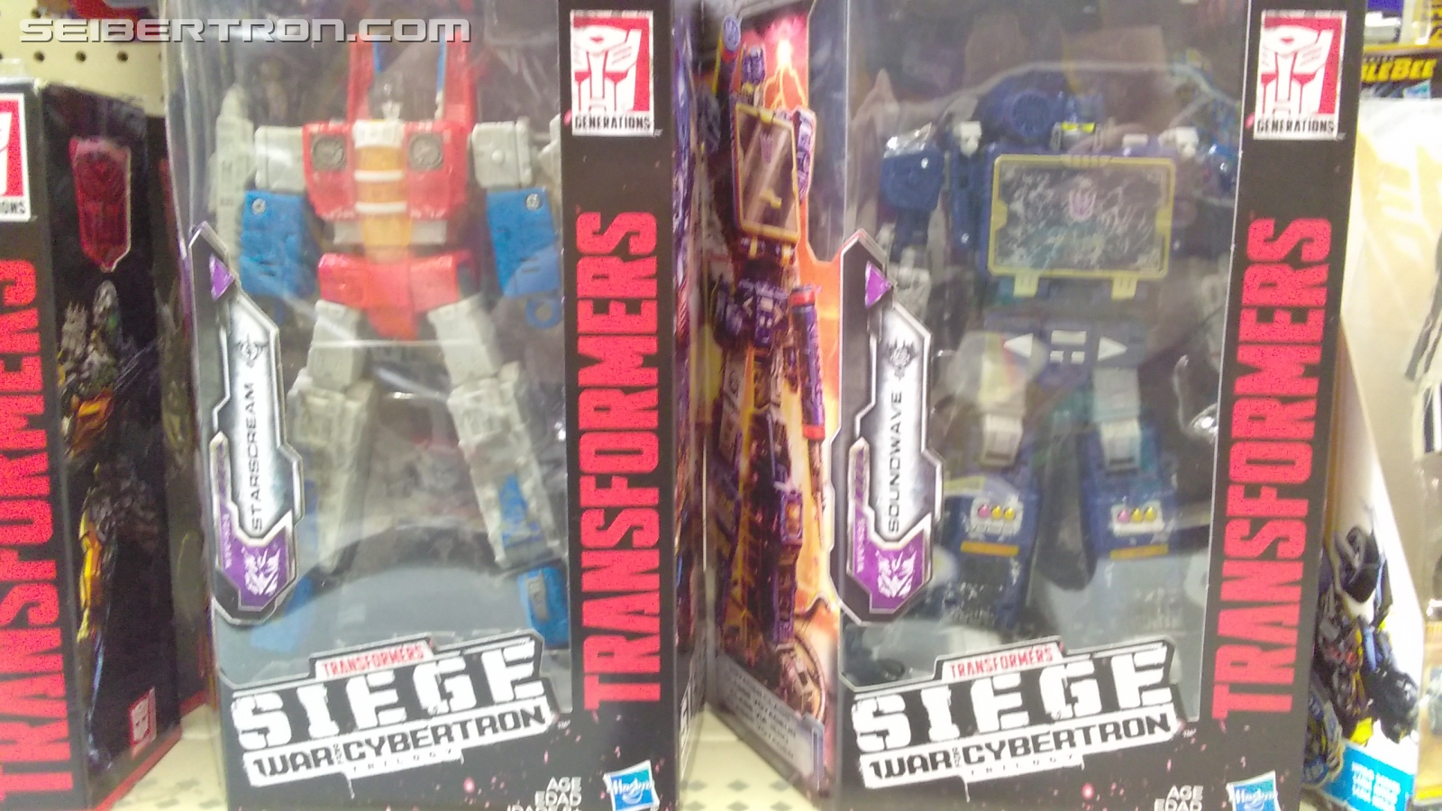 Transformers News: Transformers: SIEGE Wave 2 Voyager Class Starscream and Soundwave Found at U.S. Retail