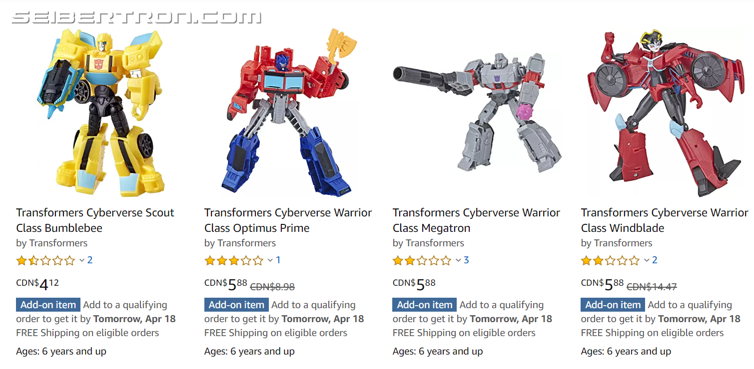 Transformers News: The Cyberverse Warrior Class toys are Practically Being Given Away in Canada
