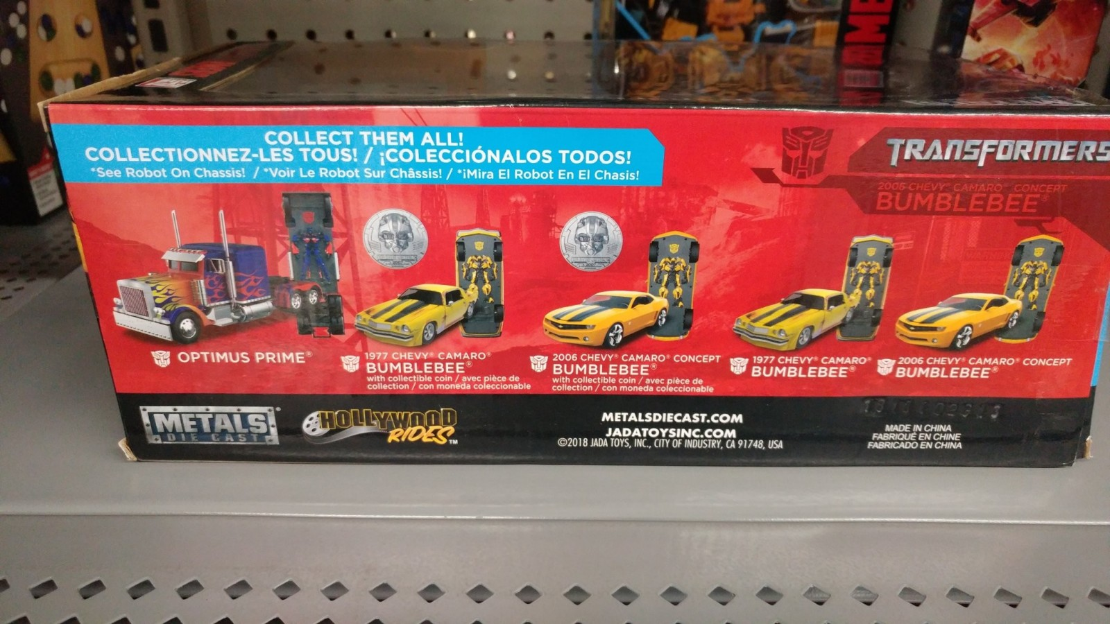 Transformers News: Jada Hollywood Rides 1:24 Transformers 2007 Camaro Concept Bumblebee Found in US