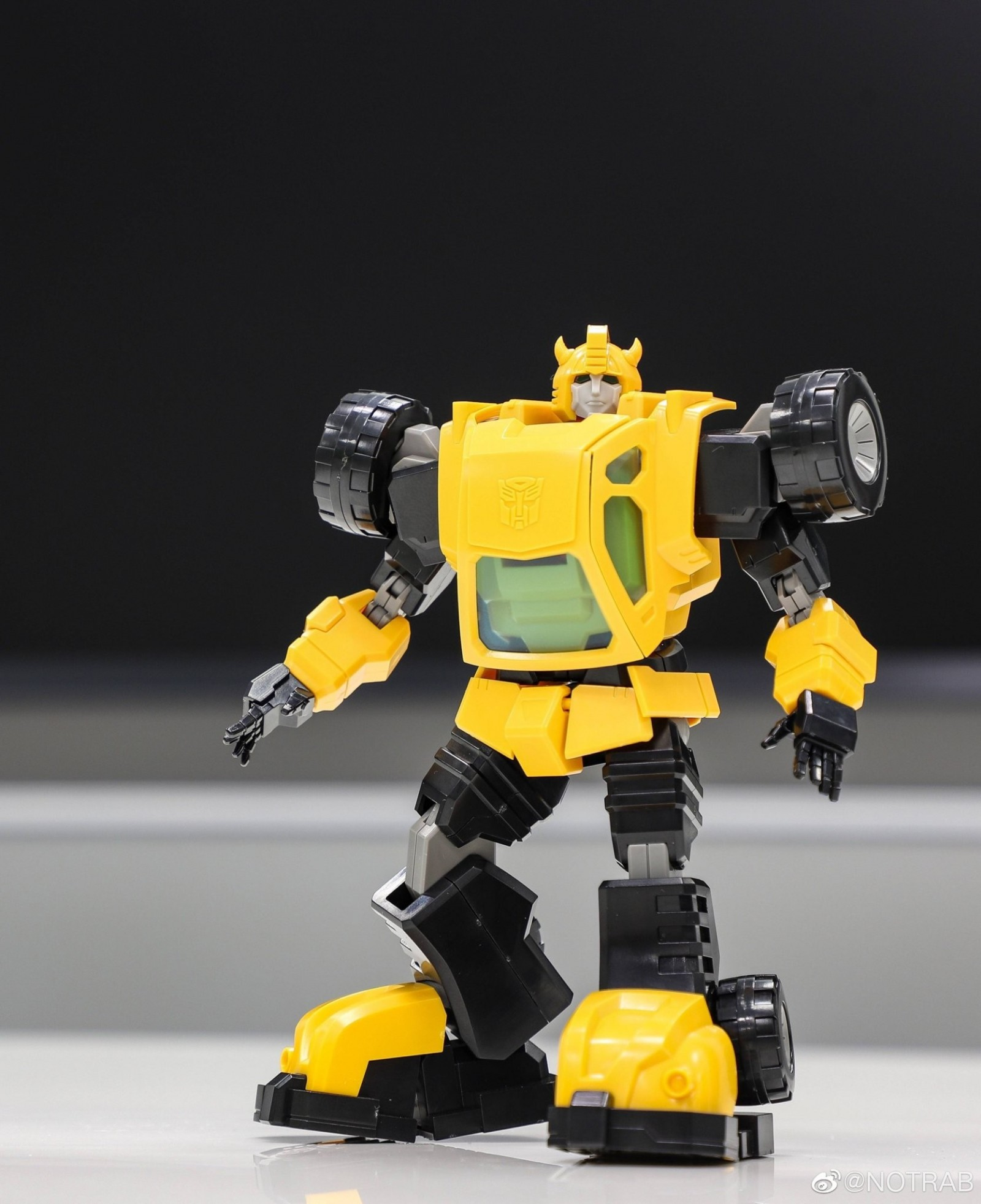 Transformers News: In Hand Images of Flame Toys Bumblebee Model Kit Completed and Box Art