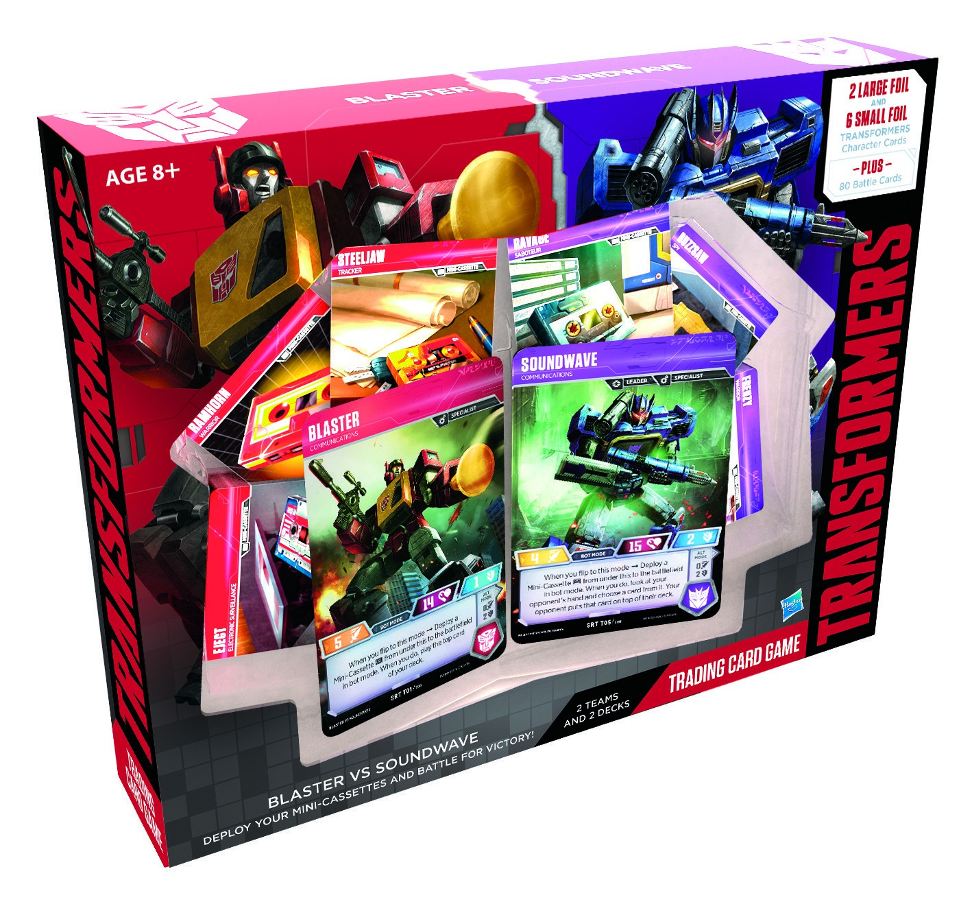 Transformers Trading Card Game Blaster vs Soundwave Pack Retail