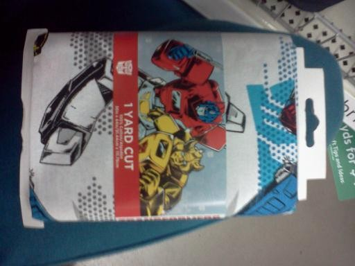Transformers News: Transformers Fabric Found at Wal Mart