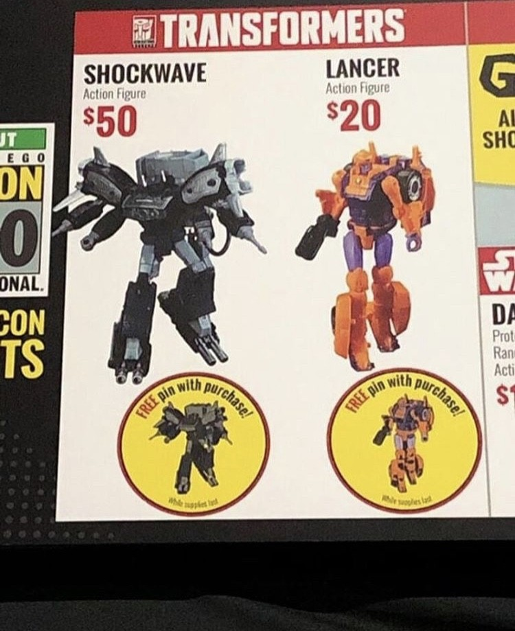 Transformers News: #SDCC2019 Transformers Siege Lancer and Galaxy Man Available for Sale at Entertainment Earth Booth