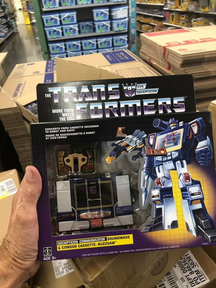 Transformers News: G1 Soundwave and Casette Reissues Found at US Walmarts and Prices Confirmed
