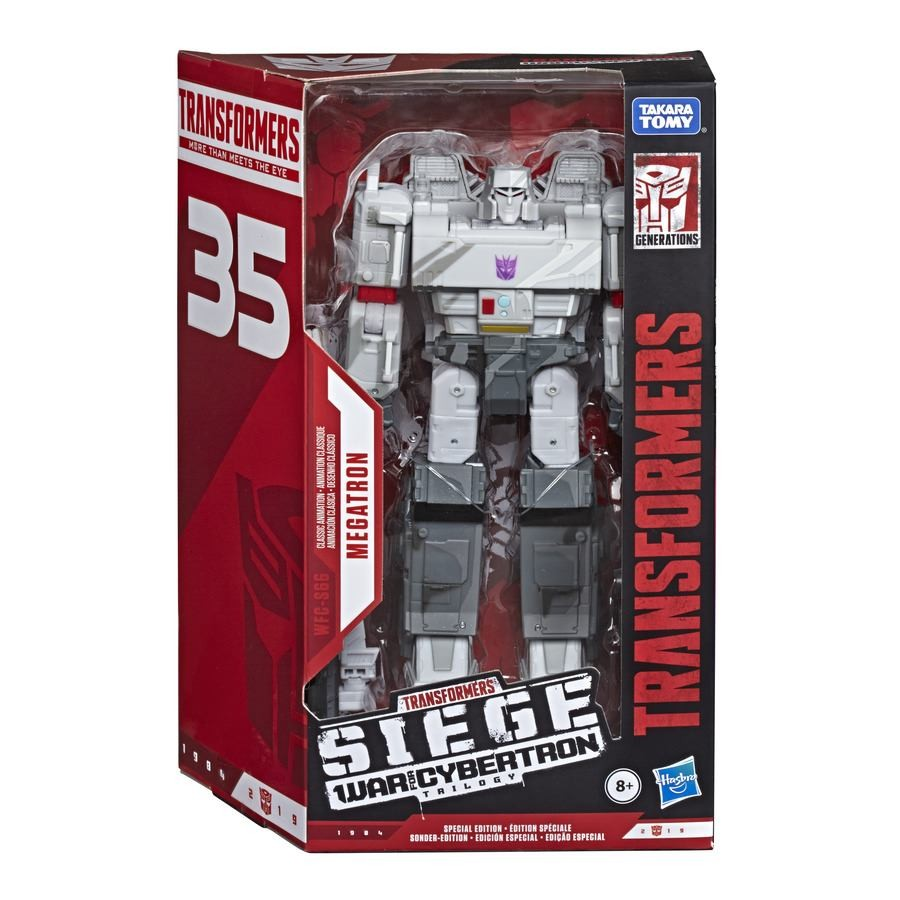 Transformers News: In Package Images of Cell Shaded Transformers Siege Optimus Prime and Megatron, Soundblaster
