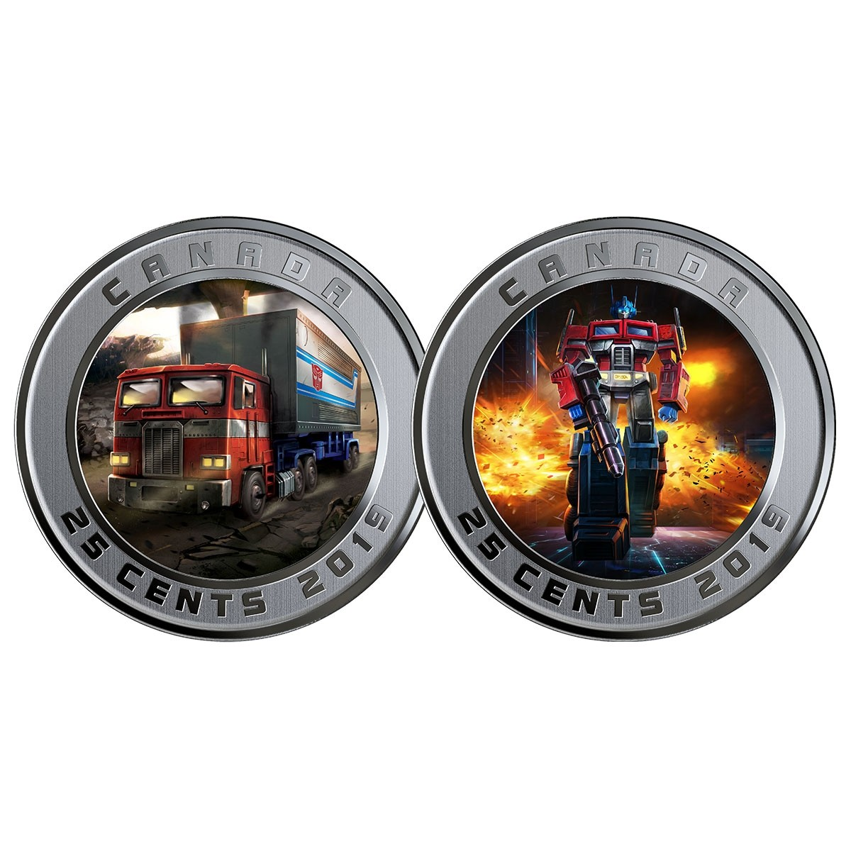 Transformers News: Canadian Mint Issues Optimus Prime Quarter and $25 Coin