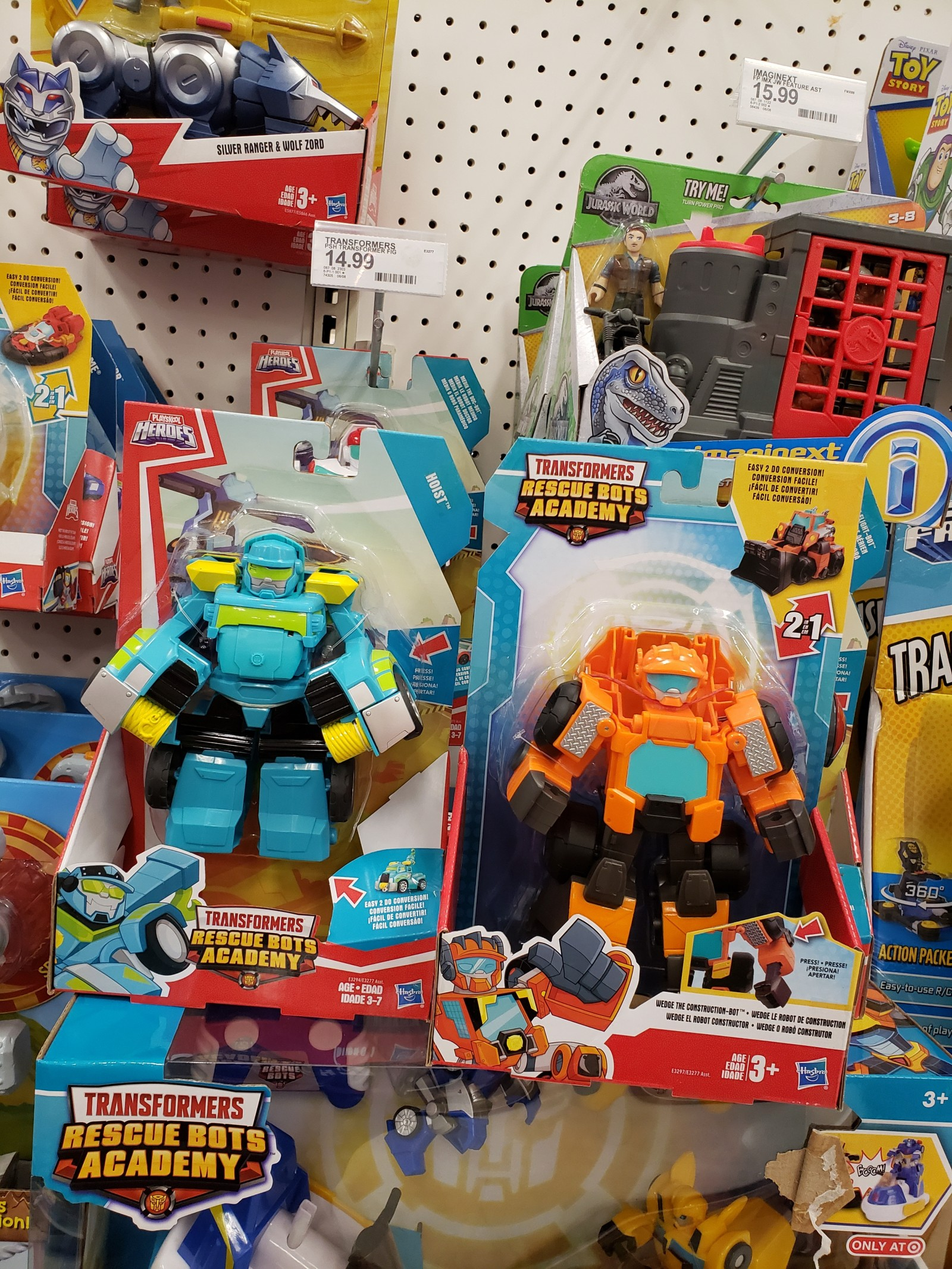 Transformers News: Jumbo Sized Rescue Bots Academy Wedge and Hoist Spotted at US Retail