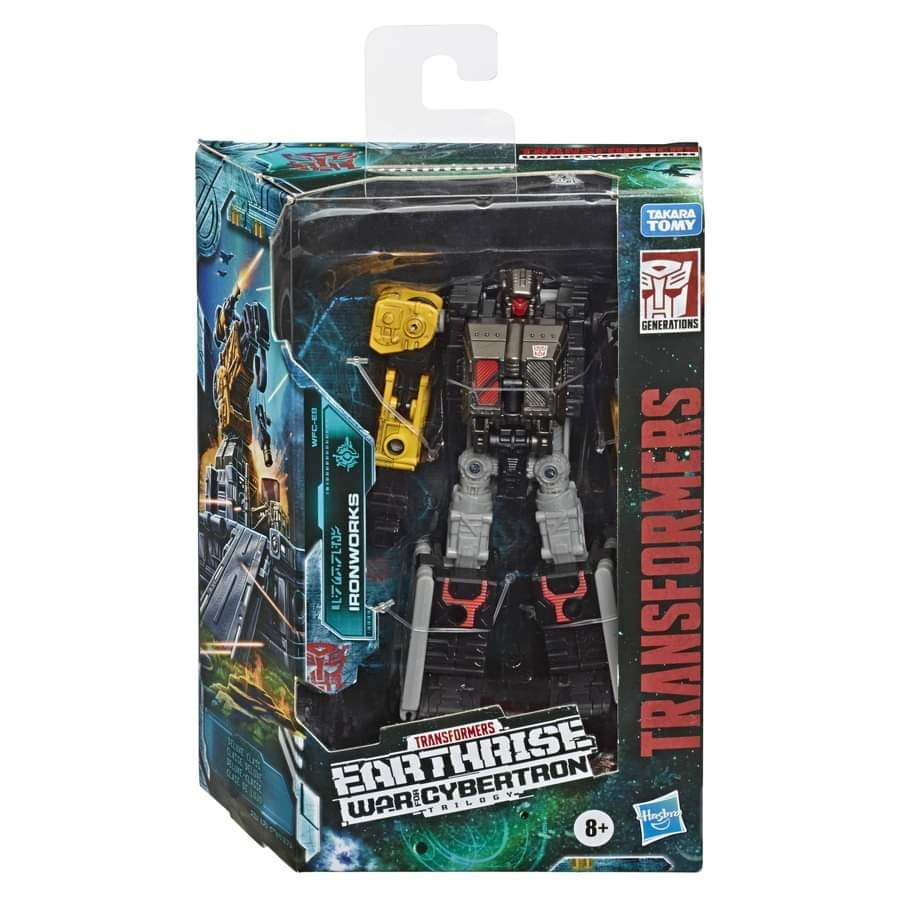 Transformers News: Finished Product Stock Images of Transformers Earthrise Wheeljack, Cliffjumper, Ironworks and Hoist