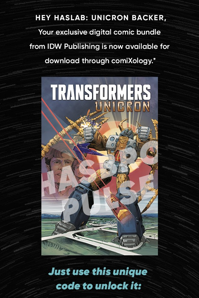 Transformers News: Exclusive Digital Comic Bundle for Hasbro Pulse Haslab Unicron Backers Now Available