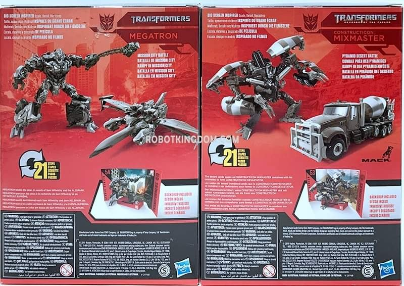 Transformers News: Studio Series Megatron and Mixmaster In Package Images and Possible Arcee Chromia and Elita-1 Combo