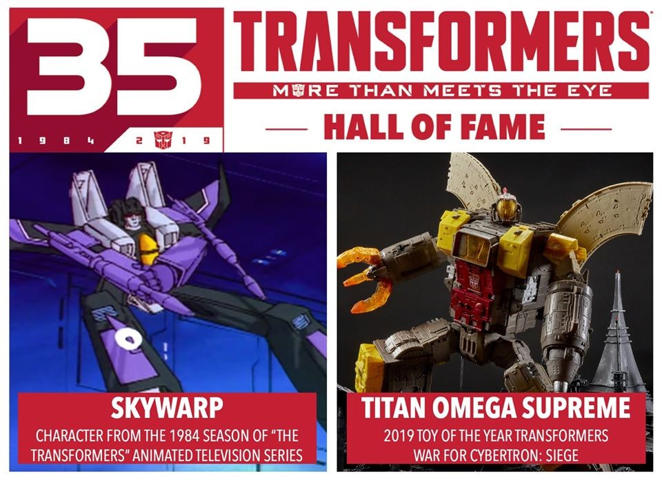 Transformers News: 2019 Transformers Hall of Fame Winners Announced