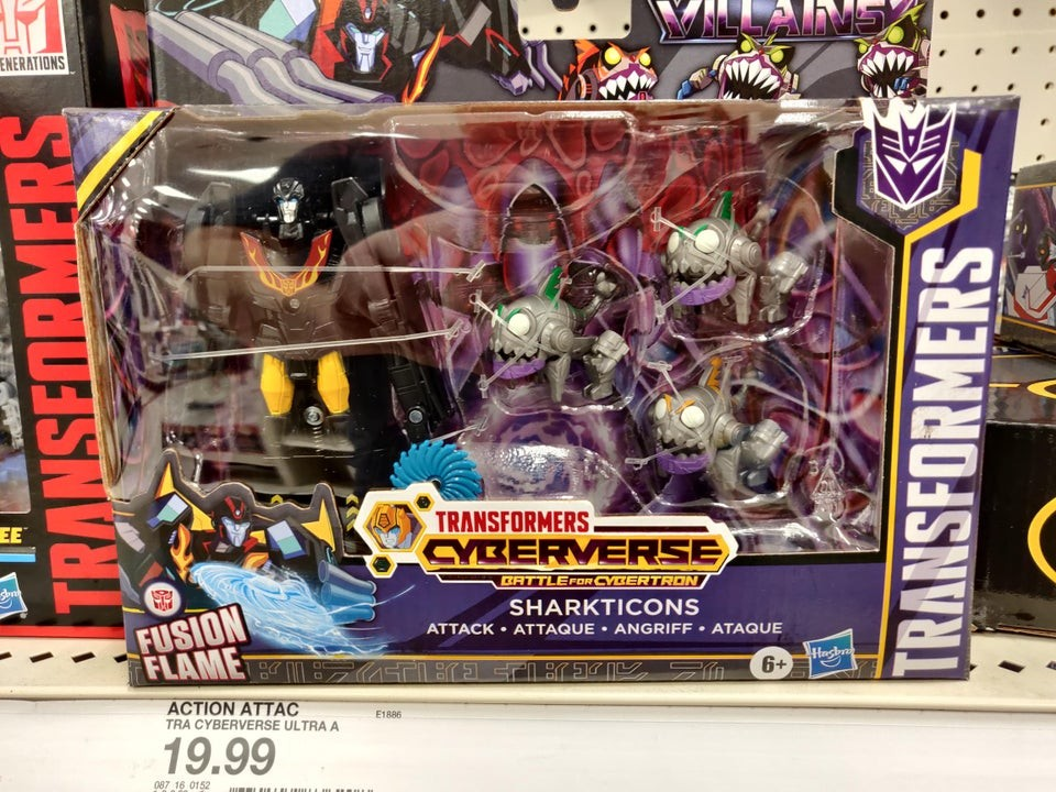 """Transformers News: Transformers Cyberverse: Battle for Cybertron """"Sharkticon Attack"""" with new Sharkticon toys"""