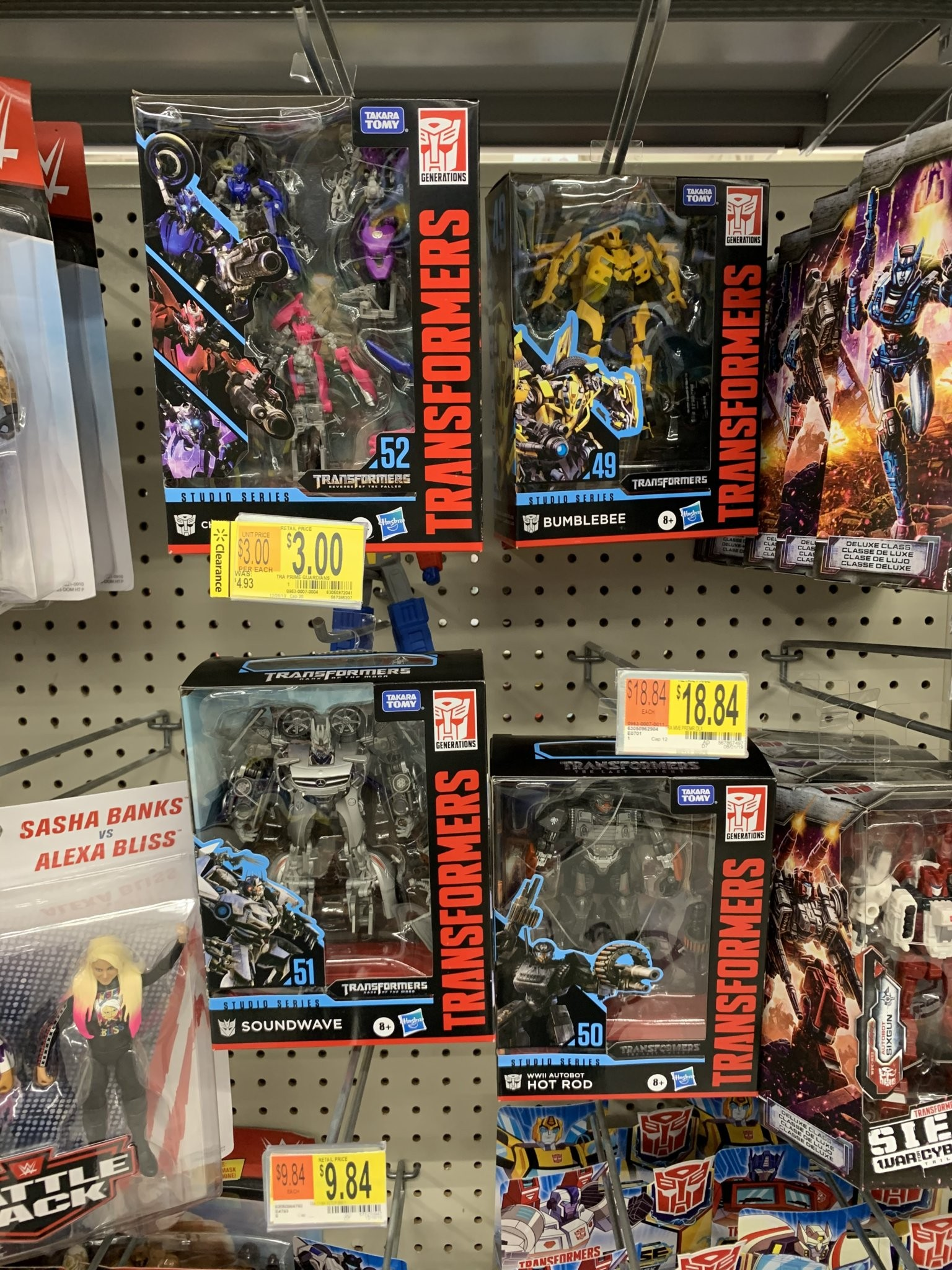 Transformers News: Studio Series Deluxe WWII Hot Rod, 2007 Bumblebee, Arcee 3 pack and Soundwave Found in US