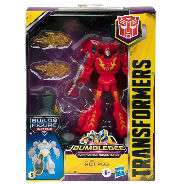 Transformers News: First Look at Transformers Cyberverse Deluxe Class Hot Rod In Package